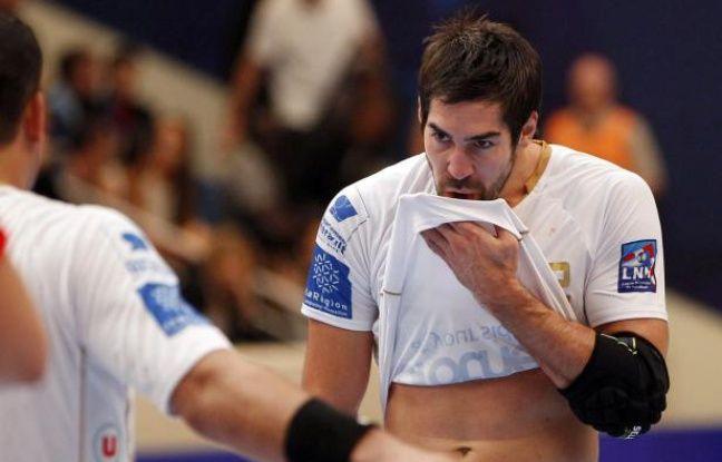 Le handballeur de Montpellier, Nikola Karabatic, lors d'un match contre le Paris handball, le 30 septembre 2012 à Paris.