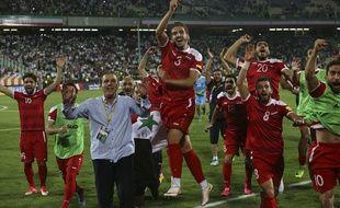 La Syrie s'est qualifiée pour les barrages d'accès à la Coupe du monde 2018, en arrachant le match nul contre l'Iran (2-2), le 5 septembre 2017.