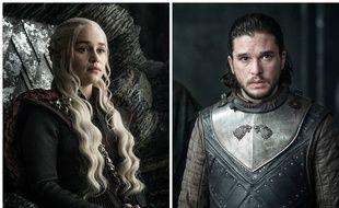 Daenarys (Emilia Clarke) etJon Snow (Kit Harington) dans l'épisode 3 de la saison 7 de «Game Of Thrones».