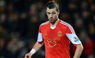 Morgan Schneiderlin joue pour Southampton le 11 février 2014.