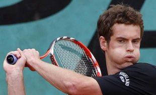 Andy Murray, à l'entraînement, le 26 mai 2009 à Roland-Garros.
