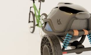 Le prototype de la remorque intelligente créée par la start-up Kid-Venture