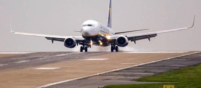 Illustration d'un avion de Ryan Air.