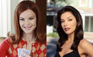 Dans Desperate Housewives, Gabrielle Solis (Eva Longoria) et Bree Van de Kamp (Marcia Cross) sont les deux antithèses: l'une ancienne mannequin, pin-up débarquée dans les banlieues chic, l'autre femme au foyer tirée à quatre épingles.