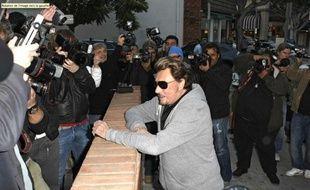 Johnny Hallyday le 5 décembre 2009 à Los Angeles