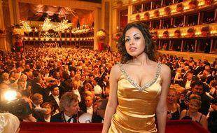Karima el Mahroug, alias Ruby, au bal de l'Opéra de Vienne, en Autriche, le 3 mars 2011.