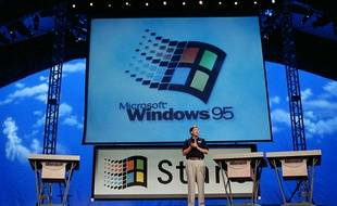 Bill Gates lance Windows 95, le 24 août 1995.