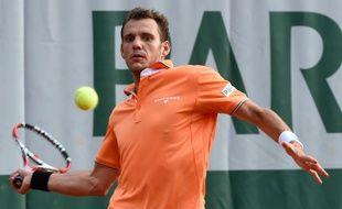 Paul-Henri Mathieu à Roland-Garros 2014.
