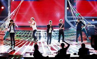 Les One Direction en concert à Milan en 2012