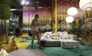 Un stand à la 53e édition du salon international du design de Milan.