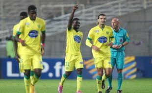 L'attaquant du FC Nantes Ismaël Bangoura a inscrit le quatrième but nantais mardi soir en Coupe de la Ligue.