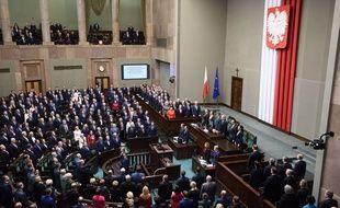 Le Parlement polonais à Varsovie. (illustration)