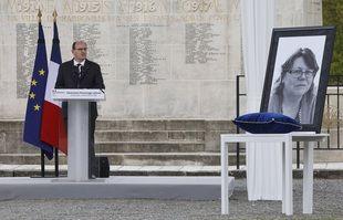 Le Premier ministre Jean Castex lors de l'hommage à Stéphanie Monfermé.