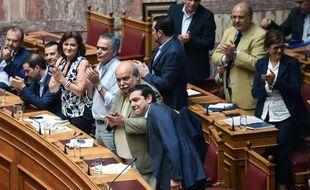Le Premier ministre grec Alexis Tsipras au Parlement grec à Athènes, le 9 juillet 2015.
