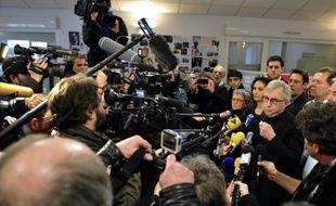 Jean-Pierre Masseret, candidat PS en Alsace-Lorraine-Champagne-Ardenne, lors d'une conférence de presse à Metz, le 7 décembre 2015