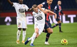 Marquinhos lors de PSG-Rennes, le 8 novembre 2020 au Parc des Princes.