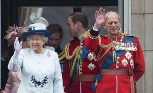 La reine Elizabeth II et le Prince Philip à Buckingham en juin 2014.
