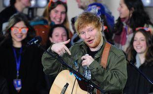 Le chanteur Ed Sheeran à New York
