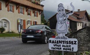 Saint-Cergues, en Haute-Savoie, a sa propre façon de faire de la sécurité routière.