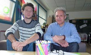 Etienne, bénévole de l'association, et Pierre Meunier, porteur du projet d'un Refuge à Rennes.