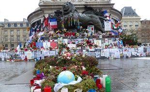 La place de la République quelques jours avant les commémoration