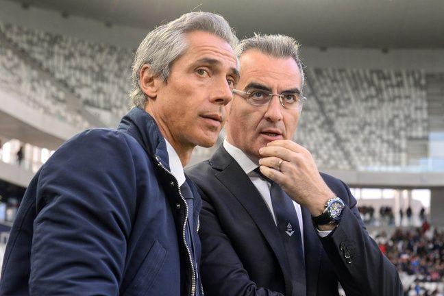 Paulo Sousa, l'entraîneur des Girondins et Eduardo Macia, le directeur du recrutement.