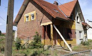 La maison qui risque de s'effondrer à Hendecourt-lez-Cagnicourt.