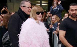 La directrice de la rédaction de «Vogue» arrivant au Met Gala en 2019
