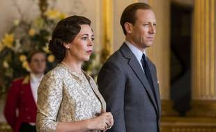 Olivia Cleman et Tobias Menzies dans «The Crown».