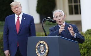 Anthony Fauci, directeur de l'Institut américain des maladies infectieuses et conseiller de Donald Trump sur la pandémie, à la Maison-Blanche le 29 mars 2020.