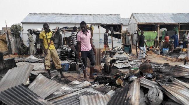 Des attentats-suicides coordonnés ont fait 16 morts dimanche, dans un camp de déplacés à la périphérie de Maiduguri. – AFP