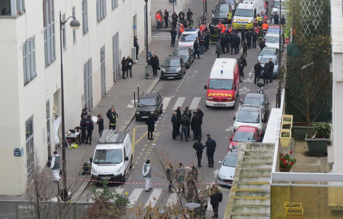Le 7 janvier 2015, le satirique Charlie Hebdo subit une attaque terroriste. La vue de la rue Nicolas Appert. Au numéro 10 se trouve les locaux de Charlie Hebdo. – Maud Pierron/20 Minutes