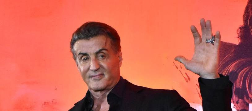 L'acteur Sylvester Stallone à la conférence de Rambo: Last Blood à Mexico