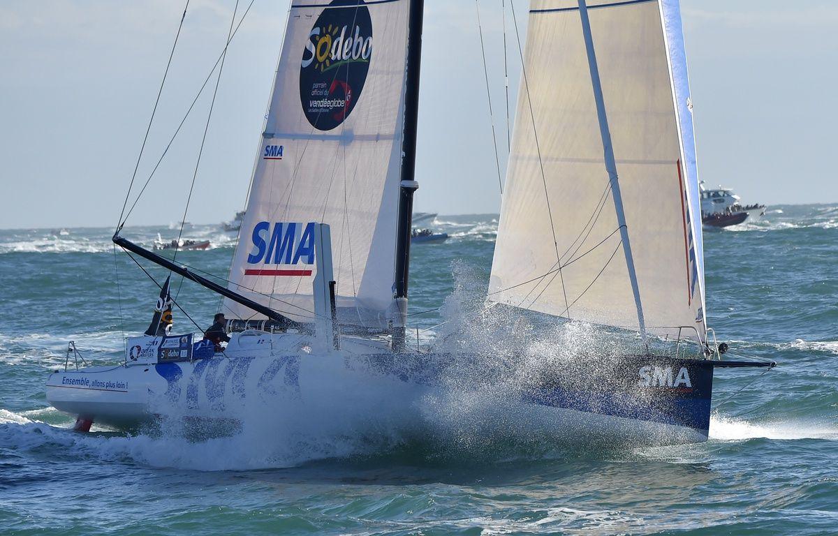 Paul Meilhat était troisième du Vendée Globe au moment où il a constaté l'avarie – LOIC VENANCE / AFP