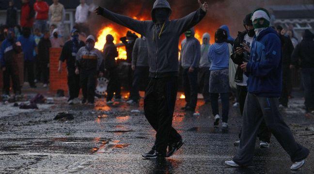Emeute nationaliste à Belfast, en juillet 2011. –  Colm O'Reilly/AP/SIPA