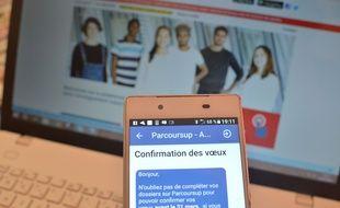 Illustration de la plateforme d'orientation des lycéens Parcoursup.