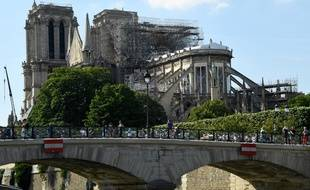 Notre-Dame de Paris après l'incendie qui l'a partiellement détruite, le 31 mai 2019.