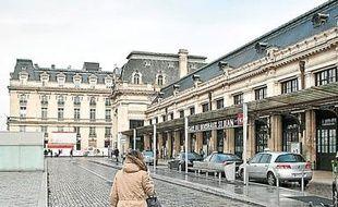 Bordeaux, 20 janvier 2013. - Parvis de la gare Saint-Jean de Bordeaux. - Photo : Sebastien Ortola