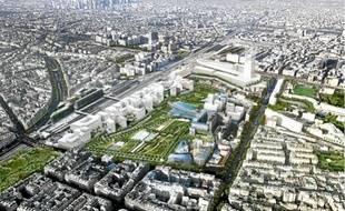 Le futur palais de justice sera situé au nord du quartier Clichy-Batignolles (17e).