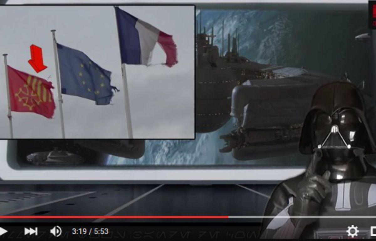 Un faux Dark Vador s'en prend dans des vidéos à la municipalité de Pezens, dans l'Aude. – YouTube