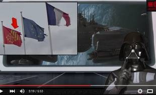 Un faux Dark Vador s'en prend dans des vidéos à la municipalité de Pezens, dans l'Aude.