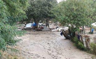 A Trèbes dans l'Aude le 16 octobre 2018, au lendemain des inondations.
