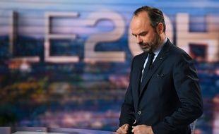Edouard Philippe sur le plateau du 20 Heures de TF1, le 7 janvier 2018.
