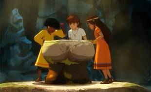 Extrait de la suite des Mystérieuses cités d'or, diffusée sur TF1 à partir de septembre 2012.