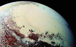 Pluton photographiée par la sonde New Horizons.