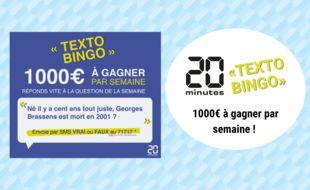 Découvrez le jeu SMS de 20 Minutes vous permettant de gagner 1000? chaque semaine