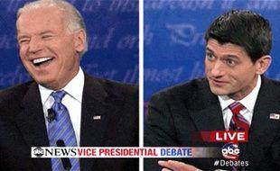 Joe Biden face à Paul Ryan lors du débat entre les candidats à la vice-présidence, le 11 octobre 2012.