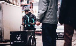 La start-up britannique Deliveroo a vu le jour en 2013 à Londres.