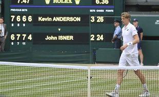 Kevin Anderson a battu John Isner en demi-finale du Wimbledon, le 13 juillet 2018, après 6h36 et un 5e set à 26-24.