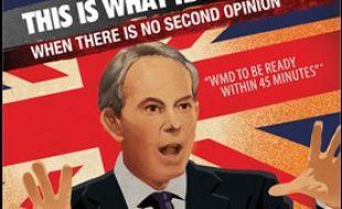 Campagne de publicité pour le lancement de la chaîne russe RT à Londres